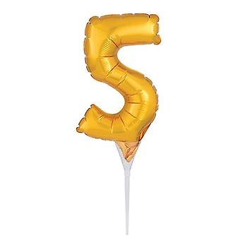 "Foil Gold Cake Balloon - 5 -150mm (6"") - single"