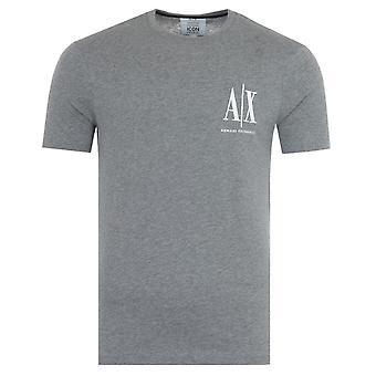 Armani Exchange Icon T-Shirt - Grey Melange