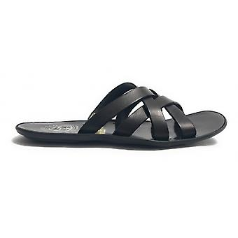 Men's Shoes Elite Slipper Bands Black Leather Craft Us17el33
