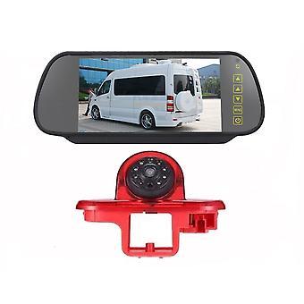 HD ir éjjellátó 3. féklámpa tolató hátlapi kamera vízálló visszapillantó + 7,0 hüvelykes fordított monitor