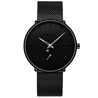 Divat férfi órák Top Brand Luxus Kvarc Watch Men Casual Slim