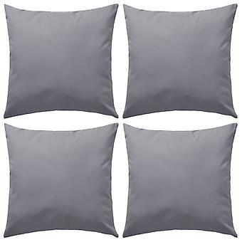 cuscino da giardino vidaXL 4 pezzi. 45 x 45 cm grigio