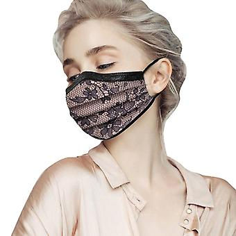 Adult Lace Disposable Protection Three Layer Breathable Face Mask Mascara