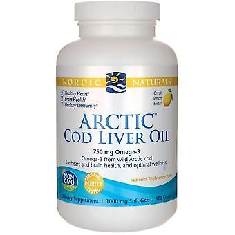 Nordic Naturals Cod Liver Oil Arctic Lemon 90 Soft Capsules