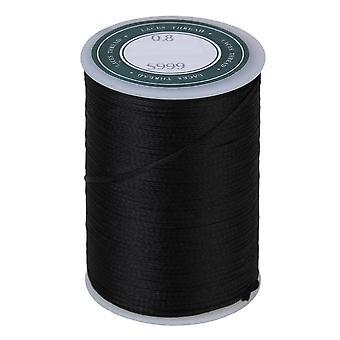 Szycie Woskowane płaskie poliestrowy sznurek skórzany sznurek do szycia 78m 0.8MM Czarny