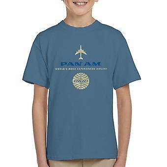 Pan Am Worlds Camiseta para niños más experimentados de la aerolínea