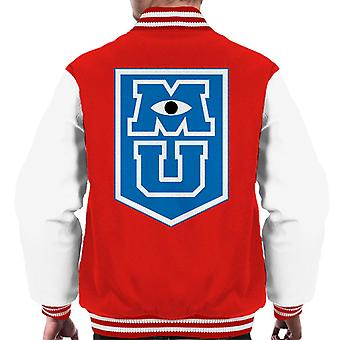 Pixar Monsters University M U Border Logo Men's Varsity Jacket