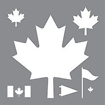 Decoart självhäftande Stencil - Kanada