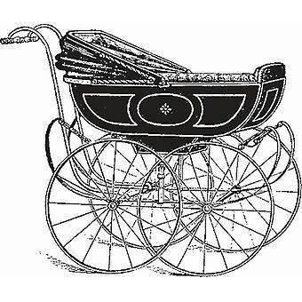 Hampton Art Wood Mounted Stamp - G45 Vintage Carriage