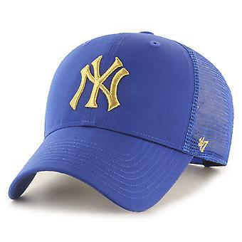 47 כובע נהג משאית מותג - ברנסון מתכתי ניו יורק יאנקיז