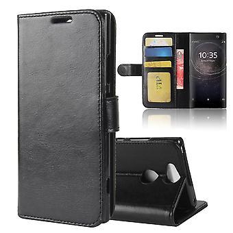 Magnetic Elegant Leather Case for Sony Xperia XZ2 - Black