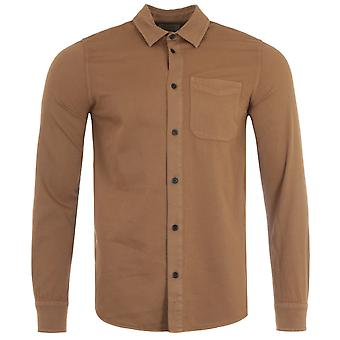 Nudie Jeans Co Chet Pigment Dye Extra Slim Fit Shirt - Hazel