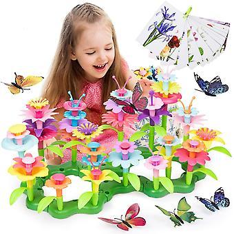 HanFei Blumengarten Spielzeug Fr Mdchen - Kleinkind Spielzeug DIY Bouquet Sets, Drauen Spielzeug