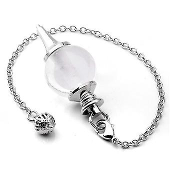 Crystal Pendulums For Dowsing Circular Cone Charm, Balance Reiki, Healing