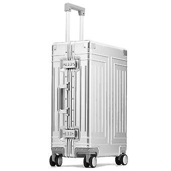 Bagagli rotolamento di alta qualità, valigia in alluminio al 100%