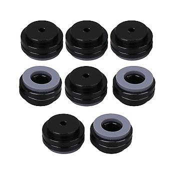 8Pcs Black Speaker Isolation Pad Metal Amplifier Feet Pads 19.5x11mm