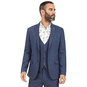 Jenson Samuel Navy Blue Tweed Suit Blazer