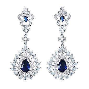 Jorsnovs - Ohrringe für Hochzeit oder Abend, Prinzessin, Für Frau, Mädchen, zirkonia cubica, Weihnachtsgeschenk, San Ref. 8009302053747