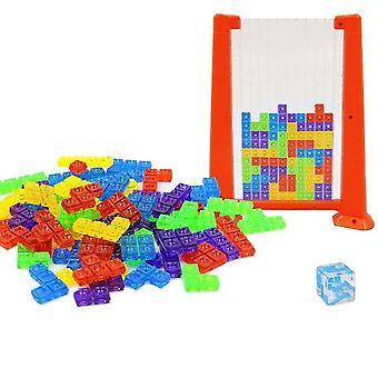 70pcs plastblokke puslespil fremme løse intelligens farverige russiske blokke spil| Blokke(rød)