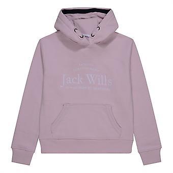 Jack Wills Kids Girls Logo Script Hoodie