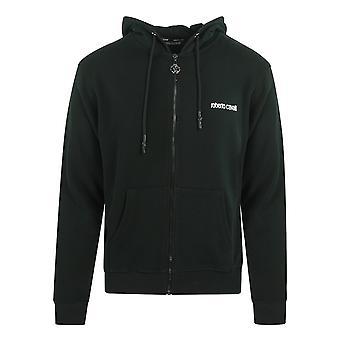 Roberto Cavalli Boxad fågel hooded svart tröja jacka