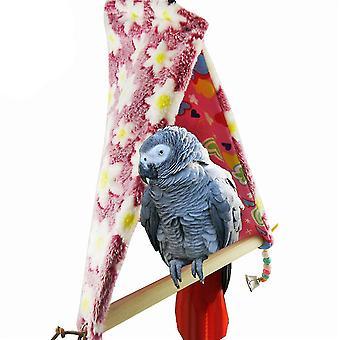ציפור תוכי כותנה קן צעצוע סווינג לעמוד בר תוכי צעצוע
