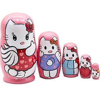 Matryoshka Kitty Kt 5-layer Doll Educational Toy