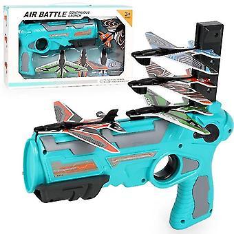Sininen kupla katapultti lentokone ammunta peli lelu 4 lentokoneen kantoraketit cai1382