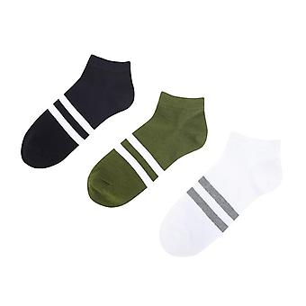 Brave Soul Runner Sports Stripe Five Pack Trainer Chaussettes