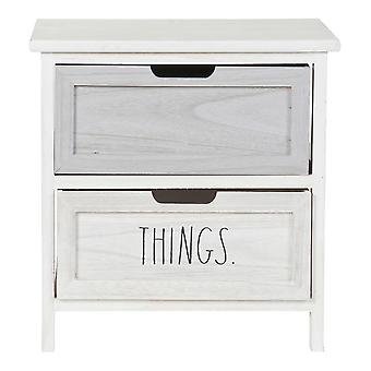 Commode DKD Home Decor Choses Paolownia bois (40 x 29 x 41 cm)