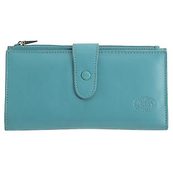 Ladies Large Genuine Leather Purse with Coin Section