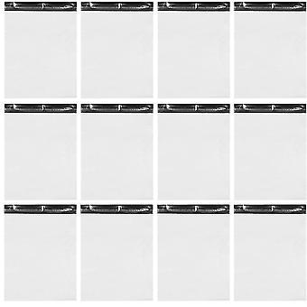 100pcs Waterproof White Self Sealing Express Sacs Sac d'emballage en plastique (blanc)