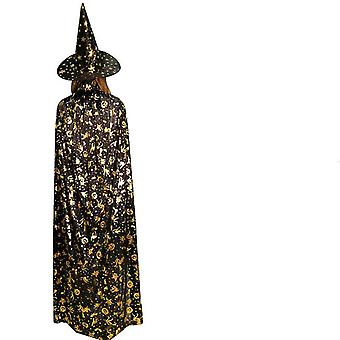 Vampires Hat Viitta Keskiaikainen Viitta Noita Viitta Naamiaispuku Cape Halloween-asut (80cm)