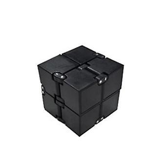 Nieskończona ścieśnia czajka w palcach, dekompresja Rubika's Cube toy(Black)