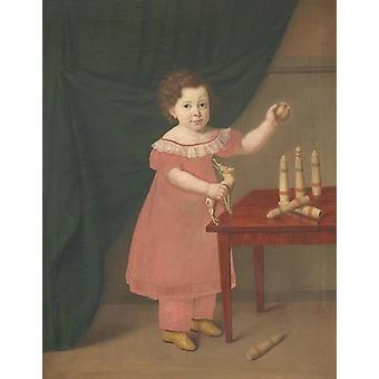 Barneportræt , Johan Anton Bech