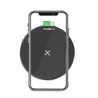 QI15W mobiele telefoon draadloze snelle ronde oplader voor Apple iphone 12 (zwart)