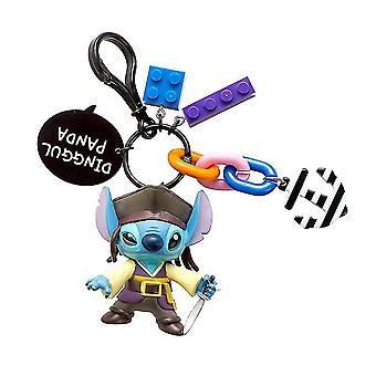 الكرتون غرزة دمية القراصنة الكابتن سلسلة المفاتيح خاتم قلادة حقيبة الحلي