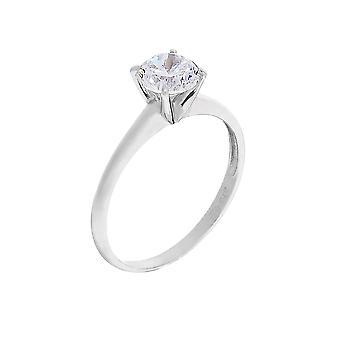 Ring 'Sober' White Gold