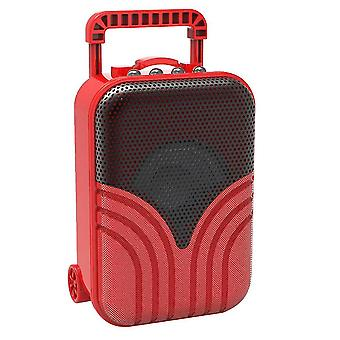 Mini trolley case card portable audio(Red)