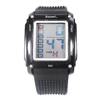 XOOM 8290101 Digital Wristwatch, Silicone Cord, Digital Wrist Watch, Illuminated Display, Unisex Wrist Watch, Water Resistant,