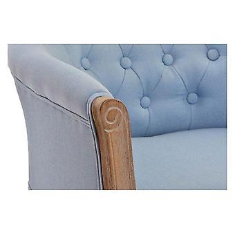Fåtölj DKD Home Decor Blå Trä Polyester (58 x 56 x 69 cm)