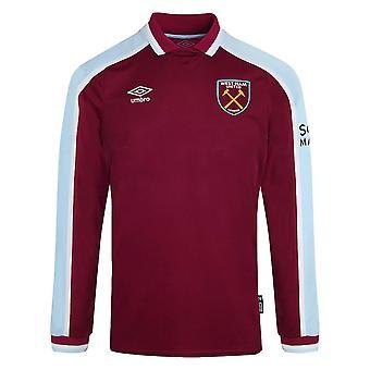 2021-2022 West Ham Camisa de casa de manga larga (Niños)