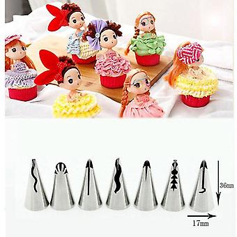 3Pcs/5pcs/7pcs cream pastry decorating tips set stainless steel  tulip icing piping cake nozzles cupcake baking tools