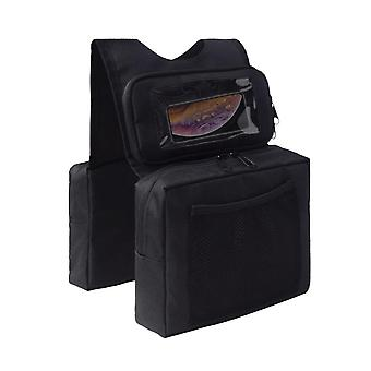 Mimigo Atv Saddle Bag,cargo Tank Phone Bag Storage Luggage For Atv Utv Snowmobile Motorcycle Black