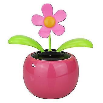 Solárne hojdacie slnečnicové kvetinové ozdoby (ružové)