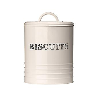 Sketch Biscuit Canister - Cream