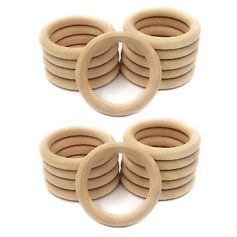 Natural Wooden Ring Unfinished Wood Circles