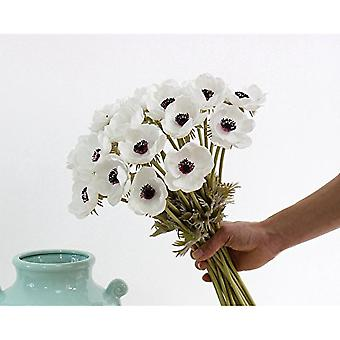 5pcs kunstige Real Touch Pu Anemone Blomst Bouquet Room Home
