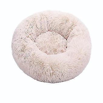 Runde Katze Bett Haus weiche lange Plüsch beste Bett für Hunde Korb Haustier Produkte