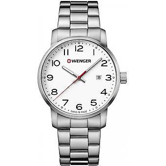 Wenger Silver Acero Inoxidable 01.1641.104 Reloj de Hombre
